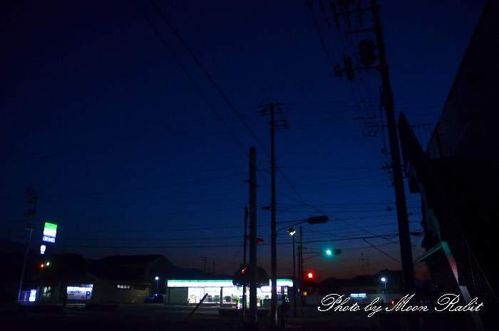 ファミリーマート西条喜多川通り店の夜景 愛媛県西条市喜多川315-1
