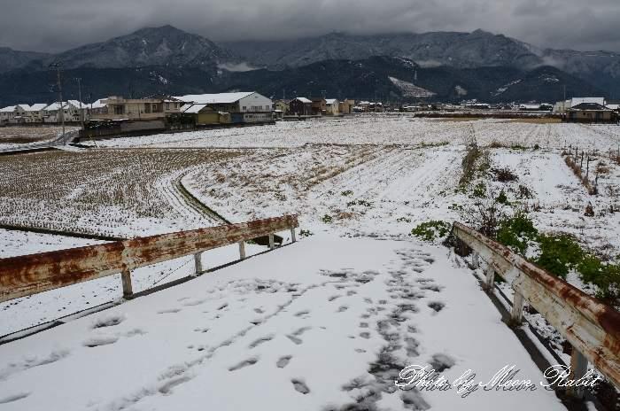 元橋の雪景色
