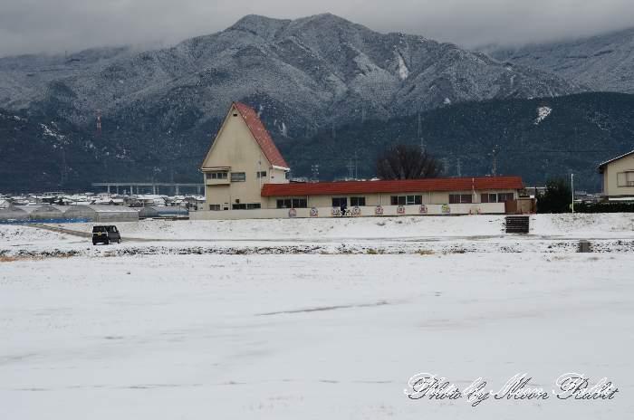みのり保育園の雪景色