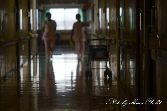 済生会西条病院の廊下にて 愛媛県西条市朔日市269-1