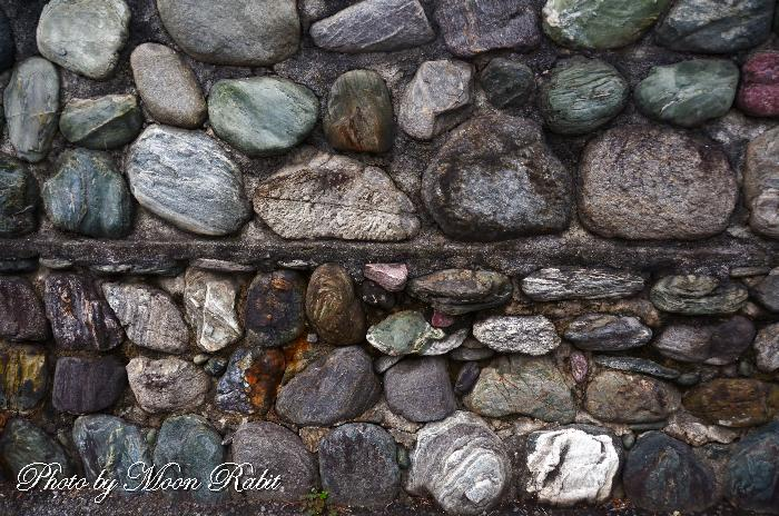 セメントと石の塀 愛媛県西条市西新町