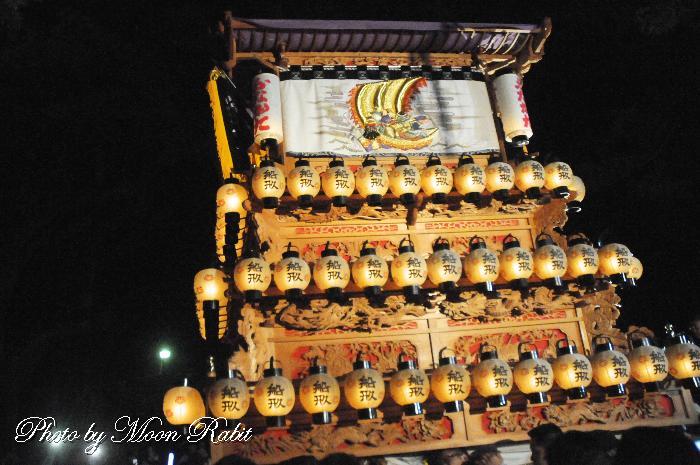祭り提灯 船形屋台(だんじり) 西条祭り
