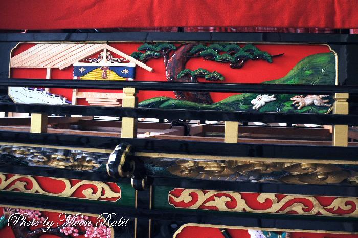 胴板彫刻・手摺 上町屋台(だんじり)