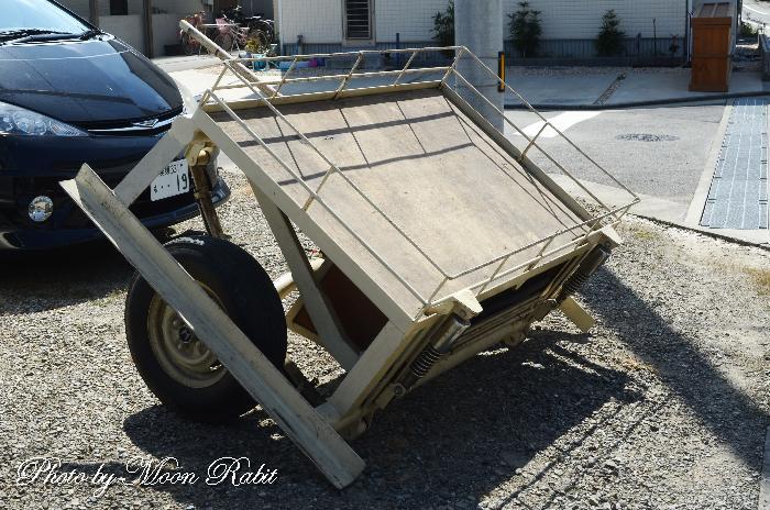 川原町屋台(だんじり) 台車