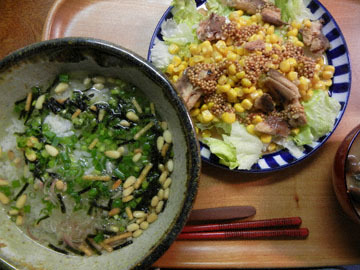 blog CL 20 Dinner, Salad with Sardine & Ocha duke with Pine nuts_DSCN9967-10.15.14.jpg