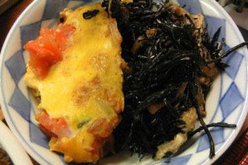 blog Cooking, Dinner, Maguro Dukedon, Akauo Nimono, Eggs & Tomato, Hijiki & Seaweed Soup_DSCN3179-10.14.16.jpg