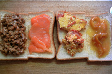 blog Cooking, Breakfast, Toast with Natto, Smoked Salmon, Eggs & Marmalade_DSCN3187-10.15.16.jpg