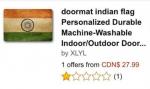 インド・国旗デザインの玄関マット