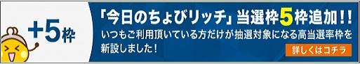 ちょびリッチ_プラス5枠追加