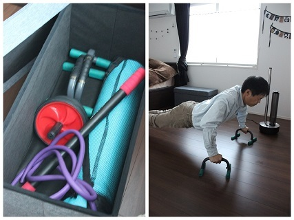 寝室 トレーニング