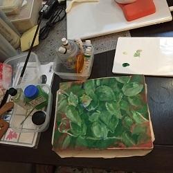 2016.11油絵製作