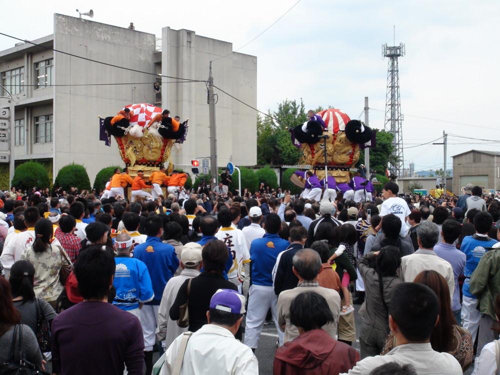 新須賀太鼓台vs西原太鼓台の喧嘩