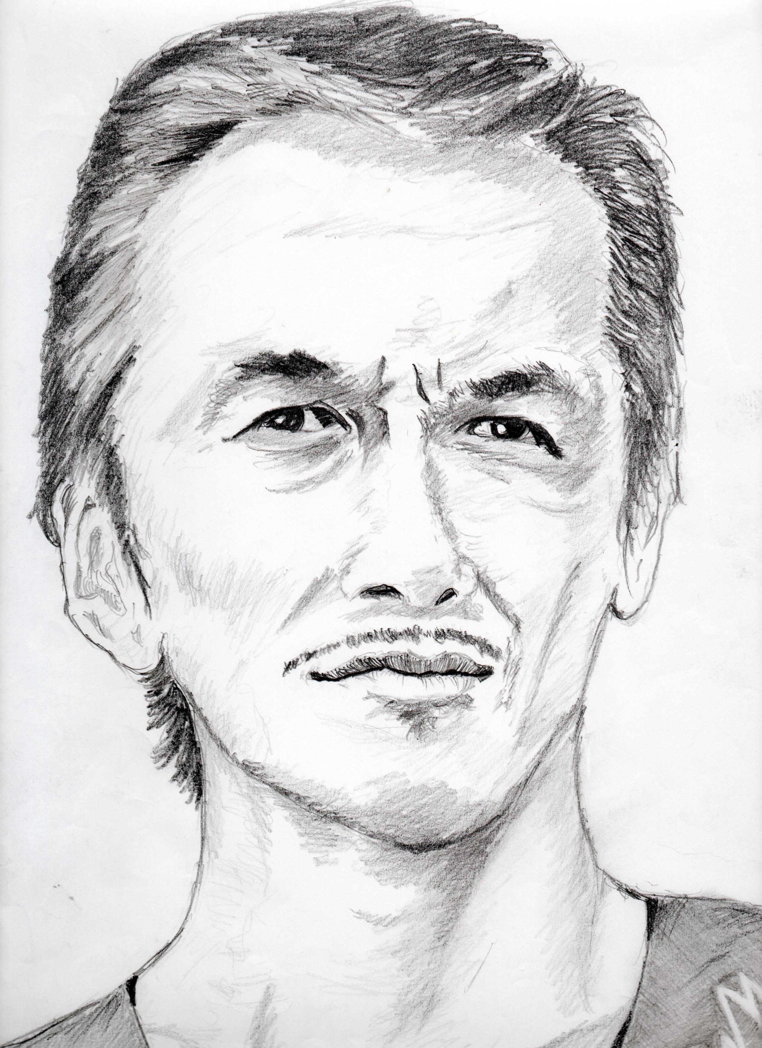 i寺島進の鉛筆画似顔絵