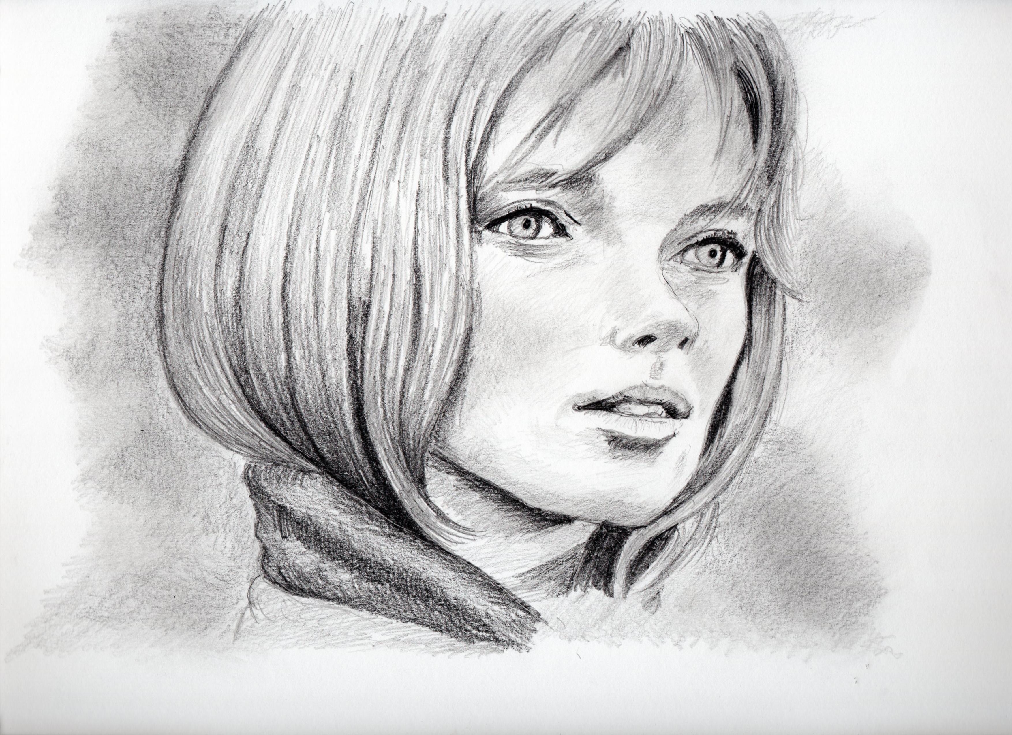 ジョアンナ・シムカスの鉛筆画似顔絵、ジョアンナ・シムカスの鉛筆画リアル似顔絵