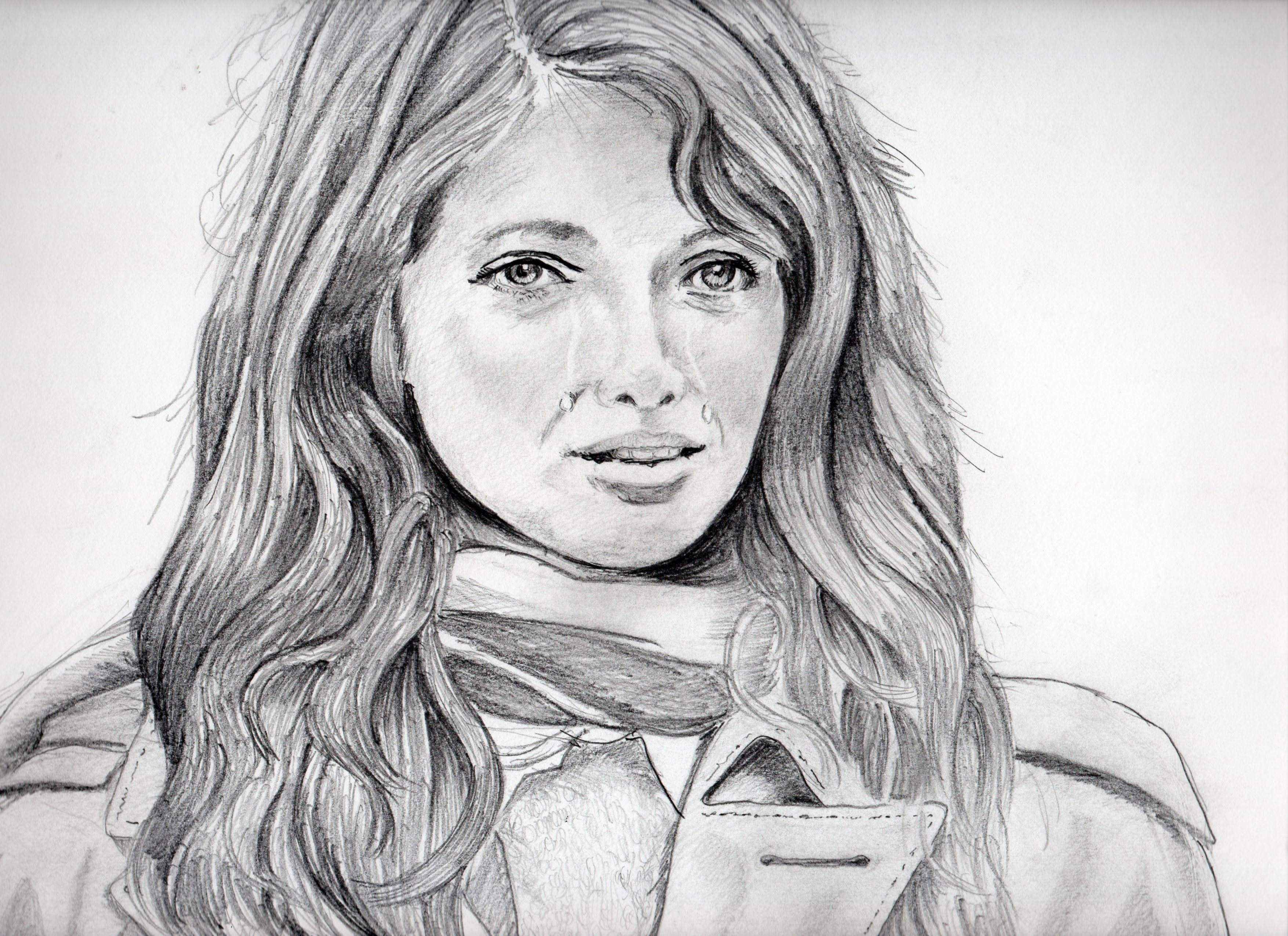 ジョアンナ・シムカスの鉛筆画似顔絵、ジョアンナ・シムカスのリアル鉛筆画似顔絵