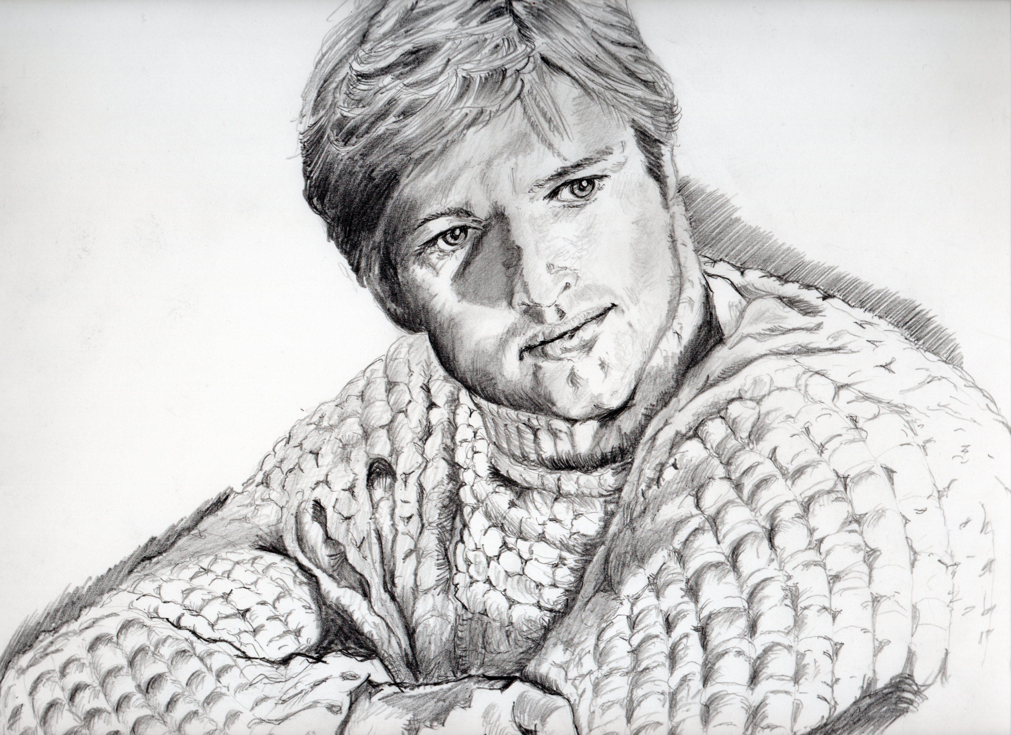 ロバート・レッドフォードの鉛筆画似顔絵、ロバート・レッドフォードのリアル鉛筆画似顔絵