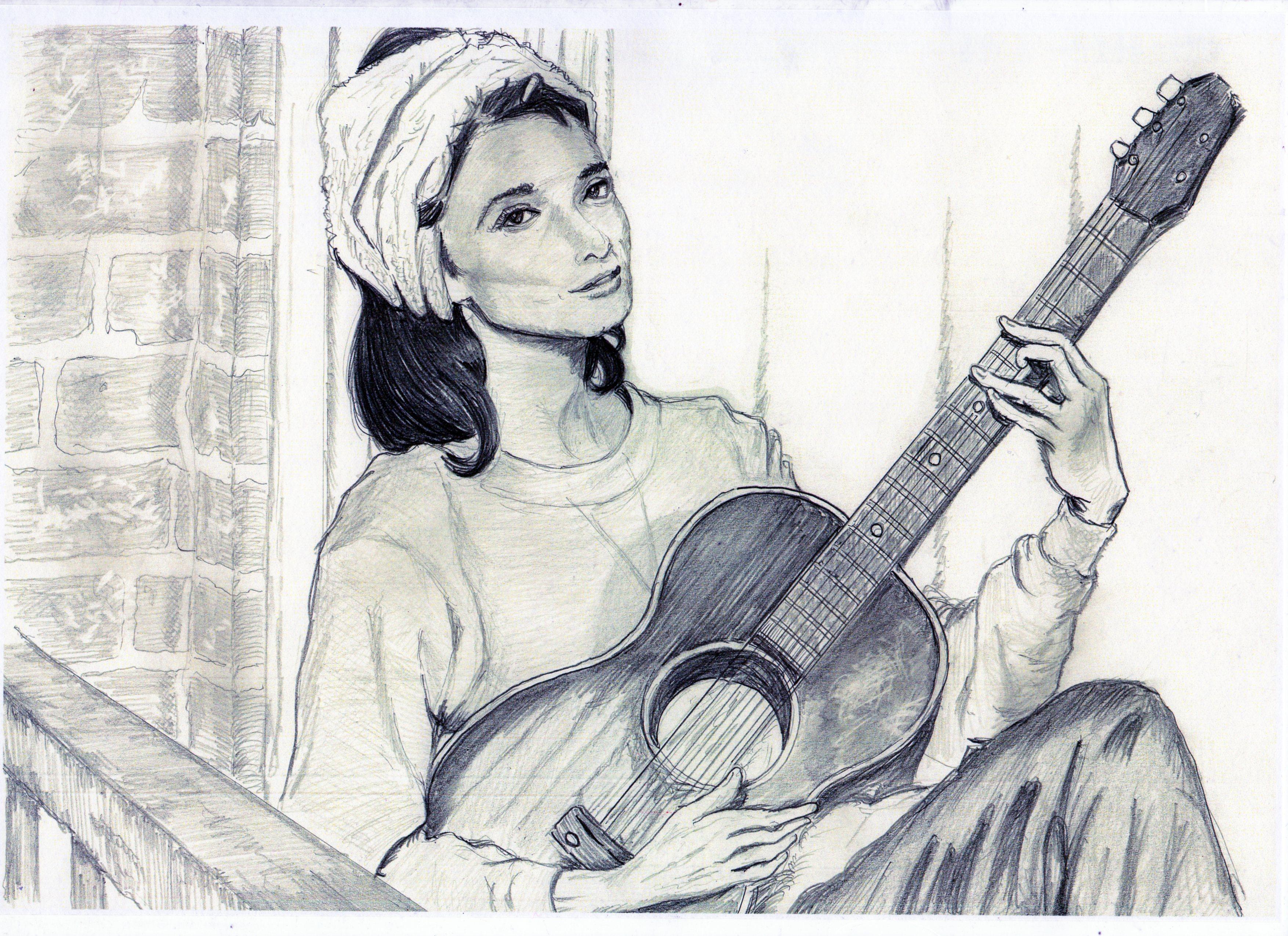 オードリー・ヘップバーンMoon River鉛筆画似顔絵、オードリー・ヘップバーンMoon Riverリアル鉛筆画似顔絵