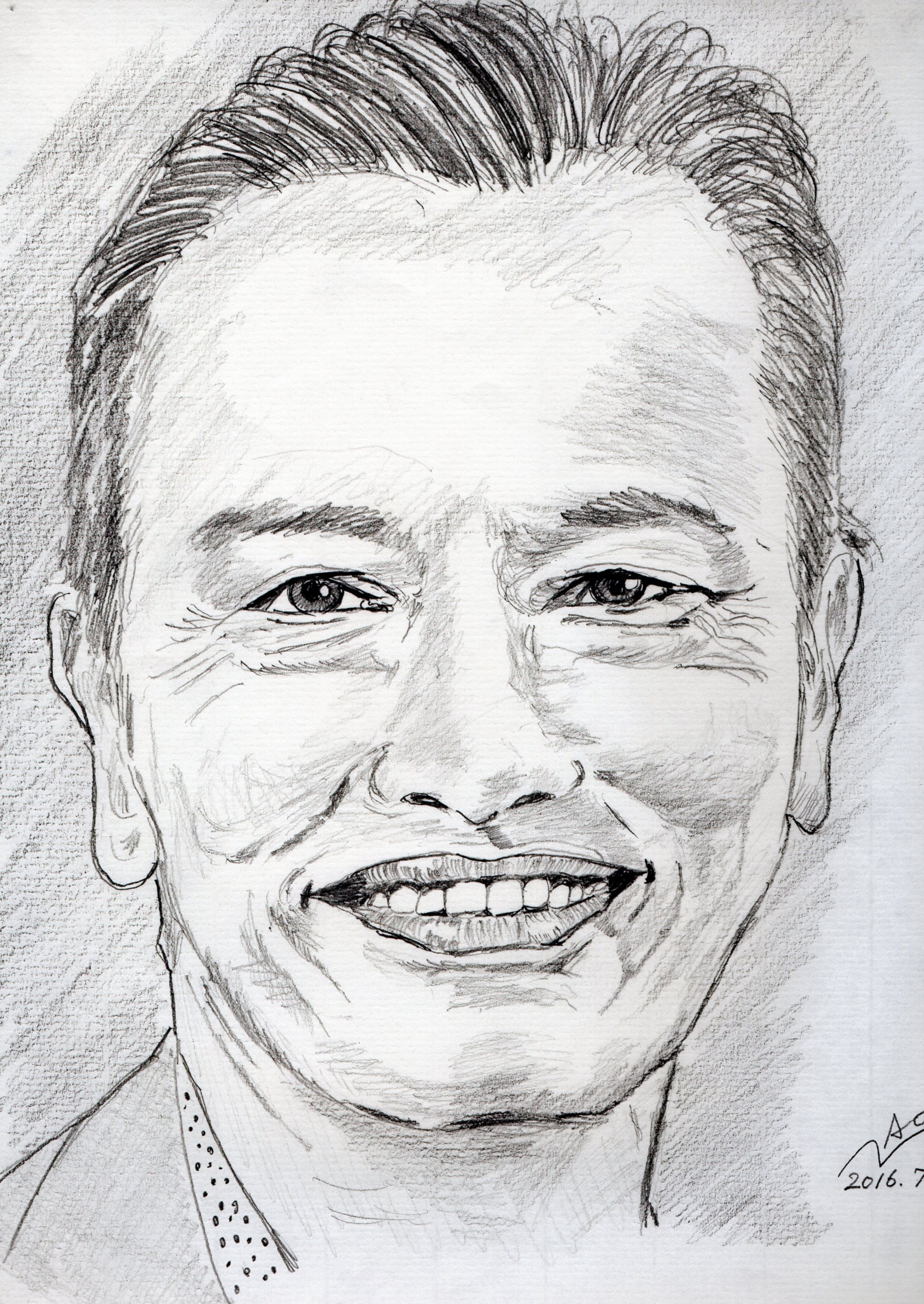 """遠藤憲一の鉛筆画似顔絵"""""""""""