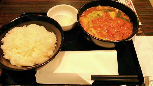 スープで食べるチゲ風カレー CoCo壱番屋 北区西天満四丁目店 201702 (3)