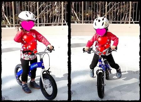 X'mas presentは補助輪なし「へんしんバイク」@3歳9カ月