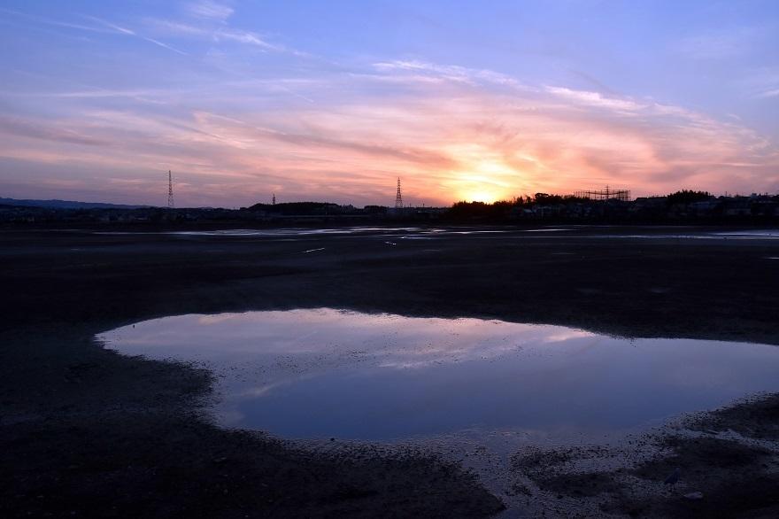 久米田池・夕景 (2)