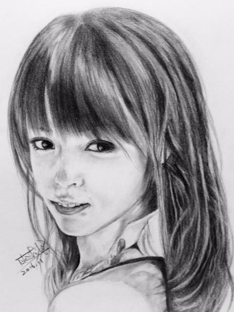 深田恭子 鉛筆画4