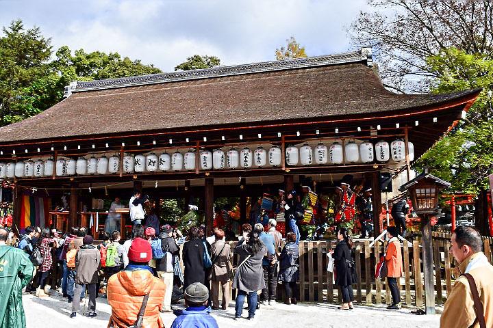 上賀茂神社で