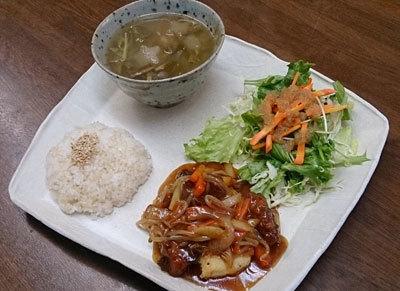 鶏肉と豆腐の甘酢和え