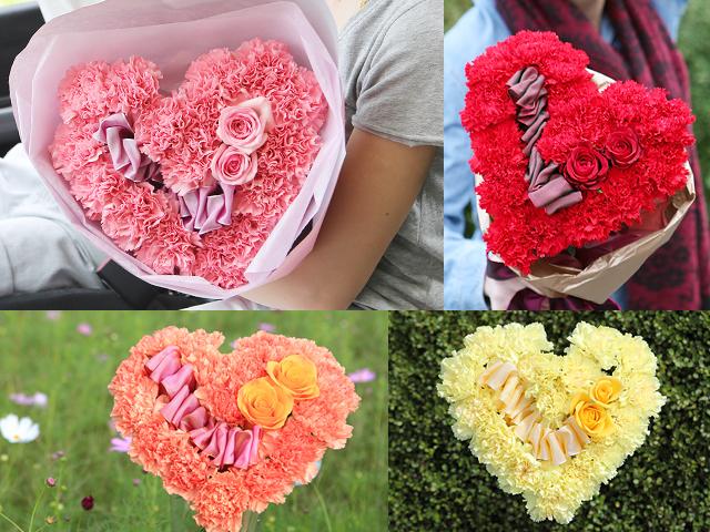 結婚 サプライズ プロポーズ バラ 花束 ハート 誕生日