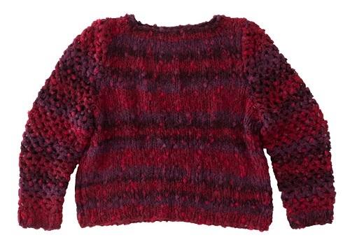 1616ピエロルーシーひと玉透かしセーター4