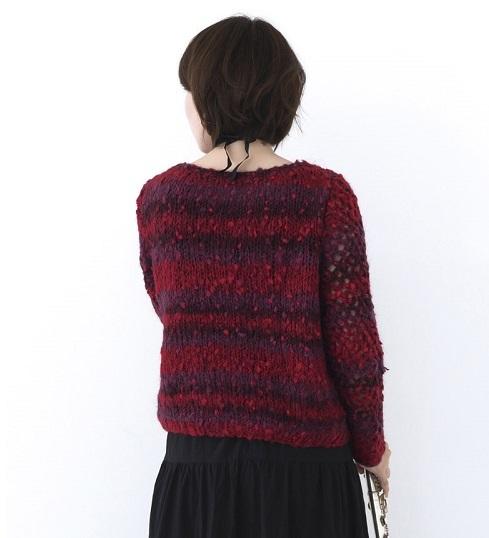 1616ピエロルーシーひと玉透かしセーター2
