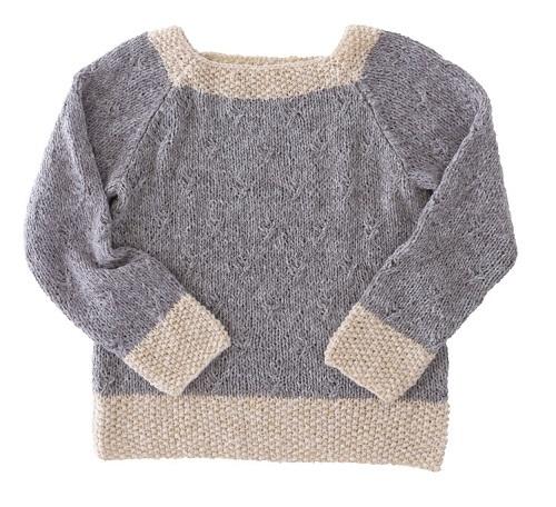 棒針編み無料編み図ピエロホイップスラグランスリーブセーター3