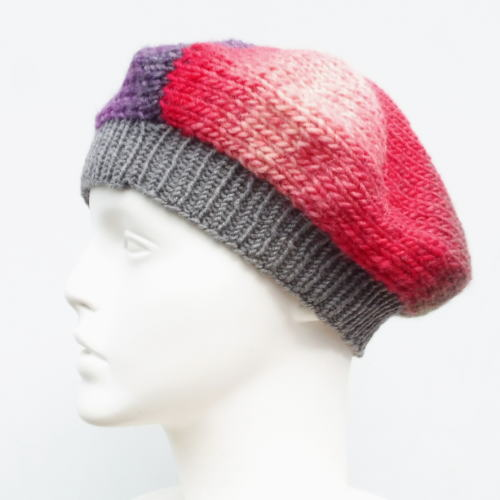 1635トップグラデーションブランドベレー帽横向き