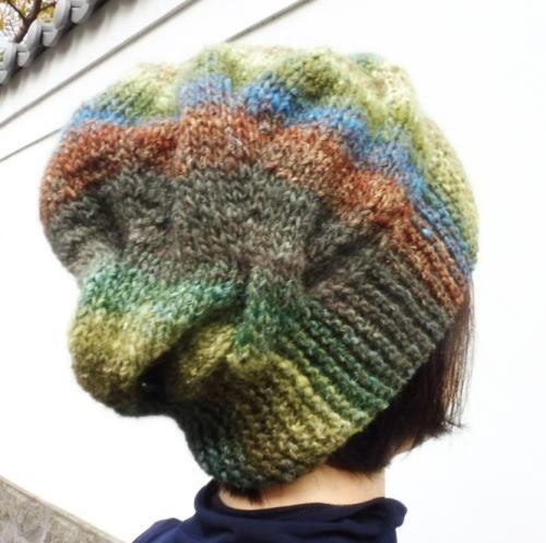 1639シルクガーデンケーブル変形帽子