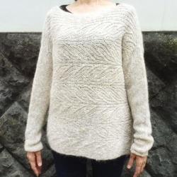 1643アルパカレジェーロ模様編みのセーター2