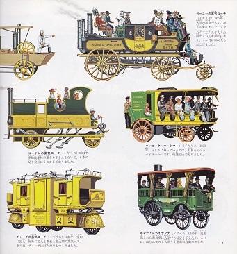 19世紀の乗合蒸気バス