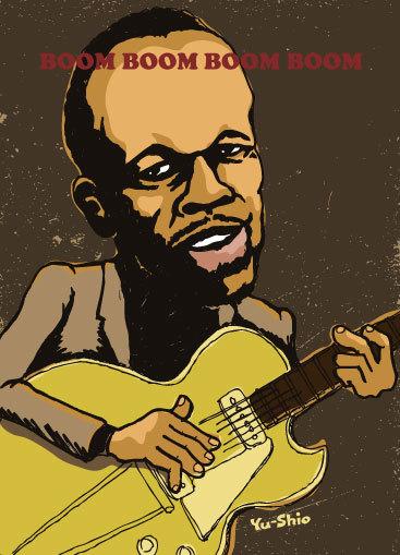 John Lee Hooker caricature