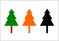 木のフリー素材テンプレート・画像・イラスト