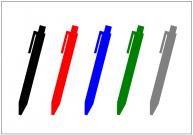 ボールペンのフリー素材テンプレート・画像・イラスト