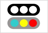 信号機のフリー素材テンプレート・画像・イラスト
