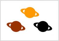 土星のフリー素材テンプレート・画像・イラスト