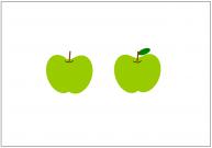 青リンゴのフリー素材テンプレート・画像・イラスト