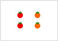 プチトマトのフリー素材テンプレート・画像・イラスト