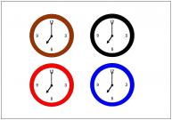 掛け時計のフリー素材テンプレート・画像・イラスト