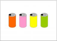 缶ジュースのフリー素材テンプレート・画像・イラスト