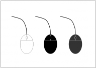 マウス(Mouse)のフリー素材テンプレート・画像・イラスト