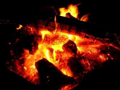 大晦日の焚き火