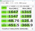 ThinkPad T460s(NVMe SSDベンチ)