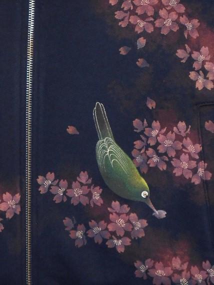 手描ジャケット 桜とメジロ