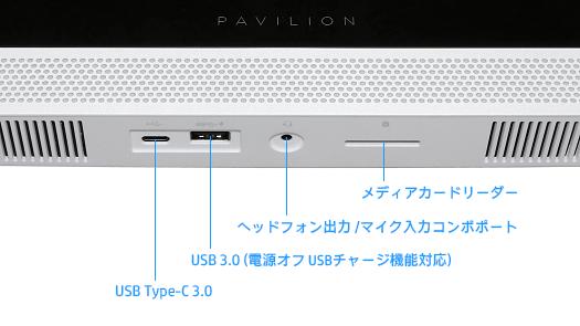 525_Pavilion 27-a170jp_ディスプレイ底面インターフェース